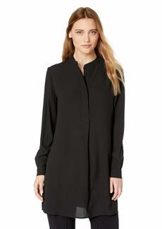 Anne Klein Women's Split Neck Long Tunic Blouse  M