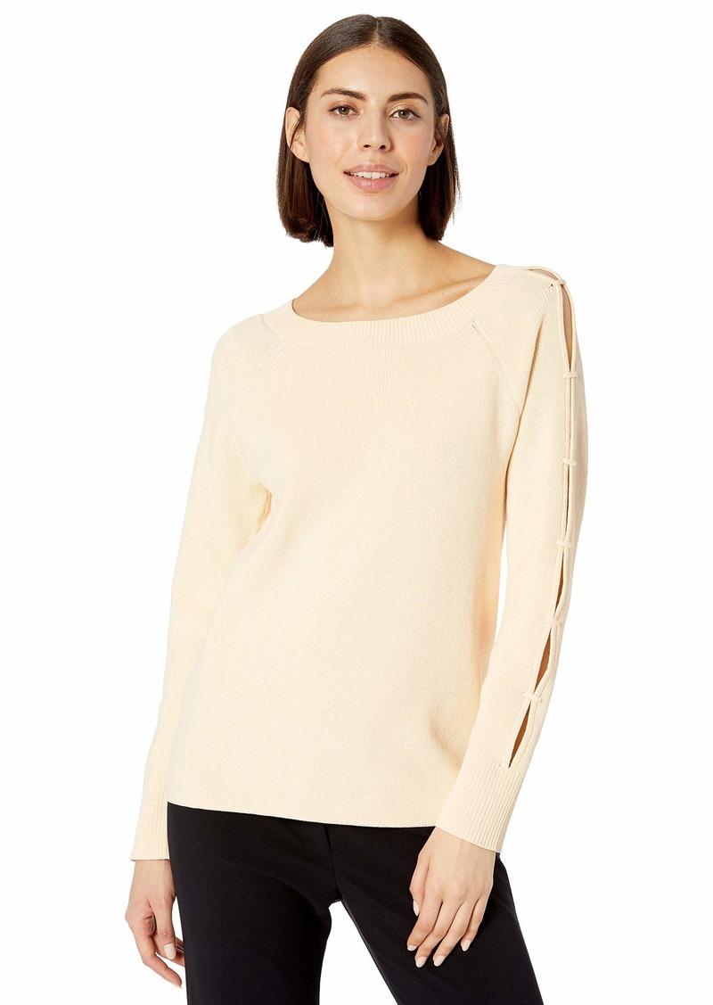 Anne Klein Women's Split Sleeve Pull Over Sweater  XL