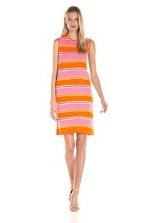 Anne Klein Women's Stripe Shift Knit Jacquard Dress