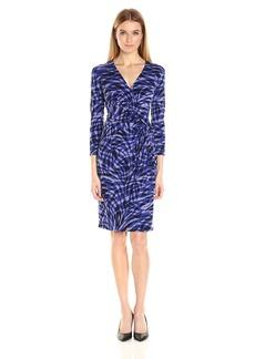 Anne Klein Women's Surplus Bodice Side Drap Matte Jersey Dress