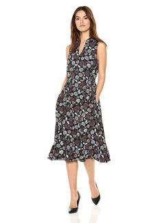 Anne Klein Women's Terrace Shade Drawstring Midi Dress  Extra Large