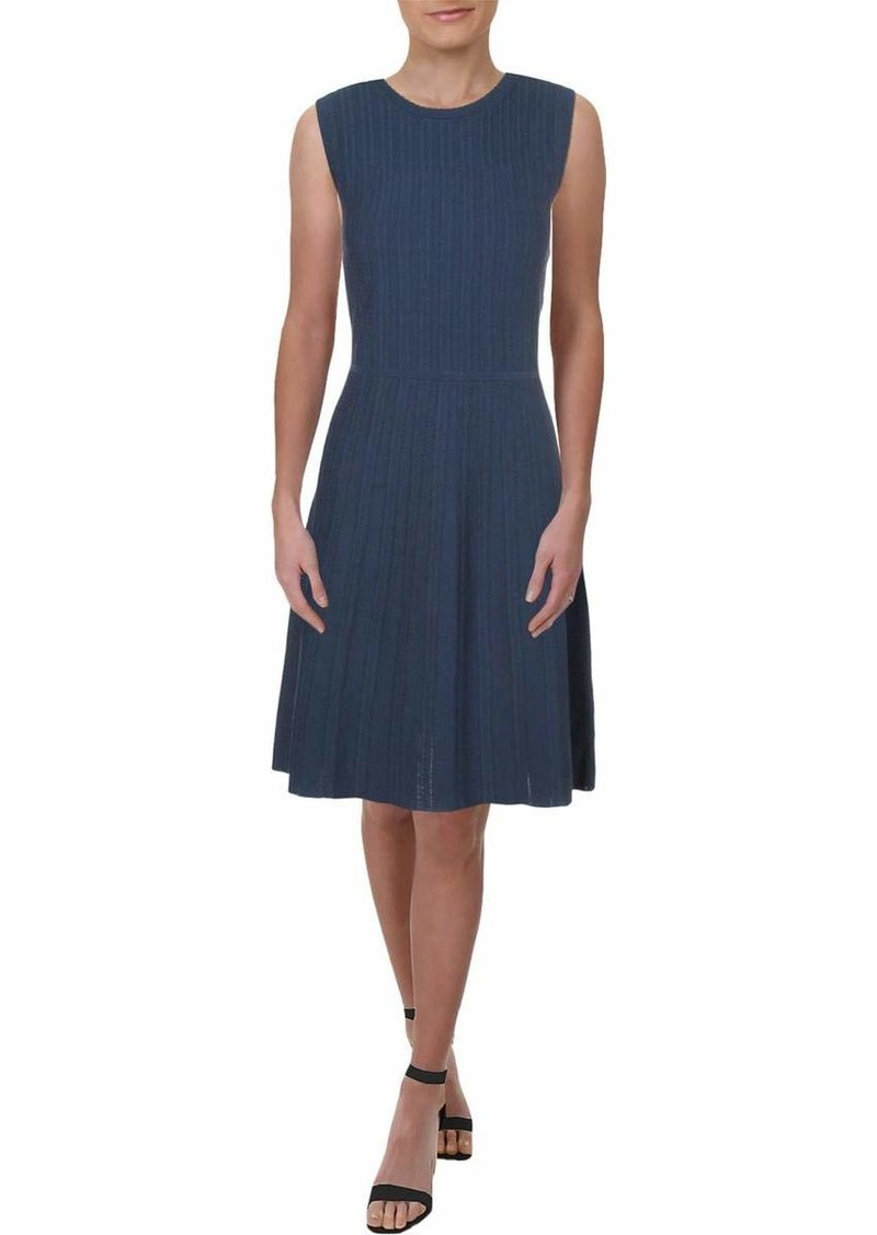Anne Klein Women's Textured FIT and Flare Sweater DRES  L