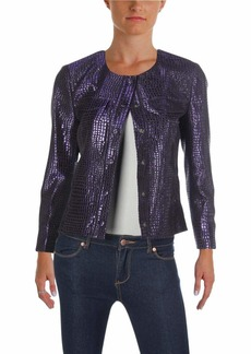 Anne Klein Women's Tile Jacquard Button Front Jacket