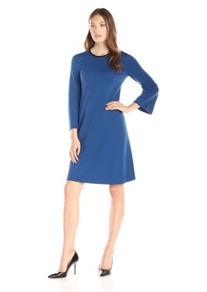 Anne Klein Women's Trapeze Dress with Neck Trim