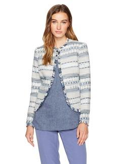Anne Klein Women's Tribal Print Tweed Jacket