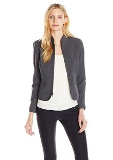 Anne Klein Women's Tropical Wool Zip Front Jacket