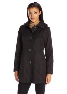 Anne Klein Women's Turnkey Rain Jacket with Removable Hood