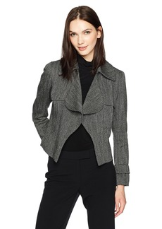 Anne Klein Women's Tweed Ruffle Trench Jacket