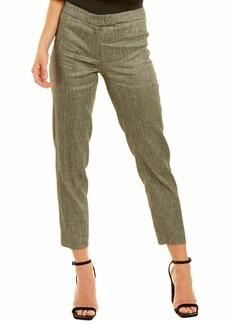 Anne Klein Women's Twill Slim Pant Black/Anne White