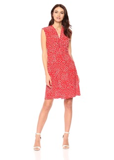 Anne Klein Women's Twist Front Dress  L