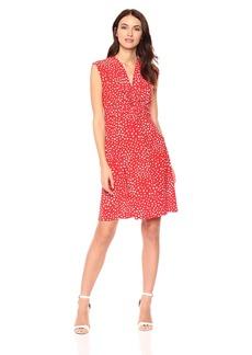 Anne Klein Women's Twist Front Dress  M
