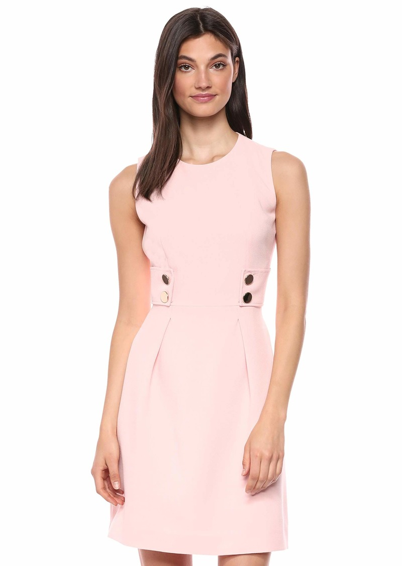 Anne Klein Women's Two Button Sleeveless FIT and Flare Dress