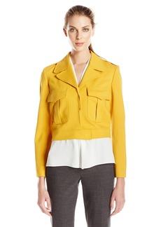 Anne Klein Women's Two Pocket Ponte Jacket