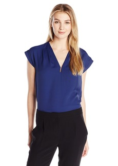 Anne Klein Women's V Neck Blouse