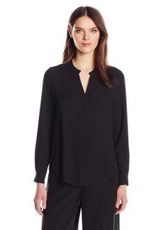 Anne Klein Women's V-Neck Long Sleeve Blouse