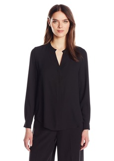 Anne Klein Women's V-Neck Long Sleeve Blouse