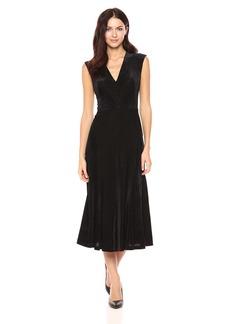 Anne Klein Women's Velvet Burn Out Midi Dress