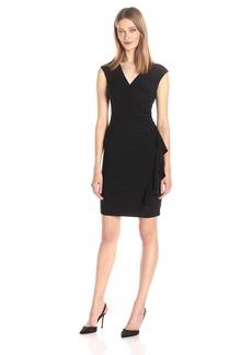 Anne Klein Women's Vneck Side Ruffled Dress