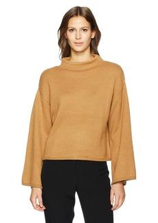 Anne Klein Women's Wide Sleeve Mock Neck Sweater  M