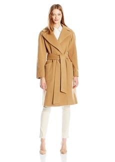 Anne Klein Women's Wool Big Belt Wrap Coat