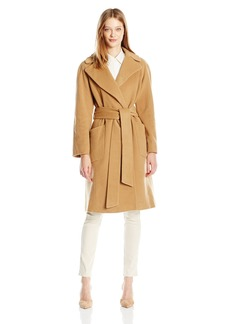Anne Klein Women's Wool Big Belt Wrap Coat
