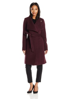 Anne Klein Women's Wool Cashmere Wrap Coat with Belt