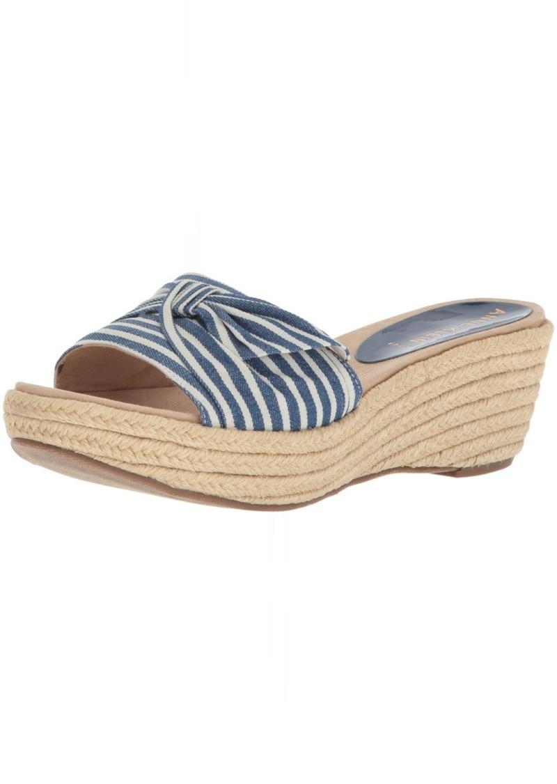 Anne Klein Women's Zandal Wedge Slide Sandal  10.5 Medium US