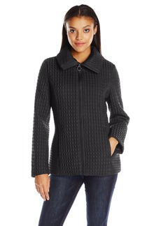 Anne Klein Women's Zip up Poly Quilt Jacket