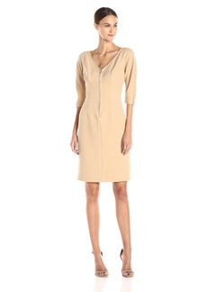 Anne Klein Women's Zipper Detail Sheath Dress