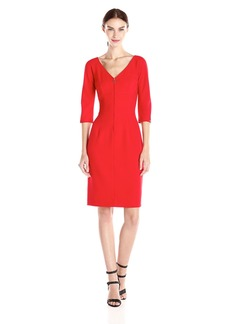 Anne Klein Women's Zipper Front Detail Sheath Dress