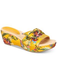 Anne Klein Zandal Slip-On Platform Espadrille Wedge Sandals