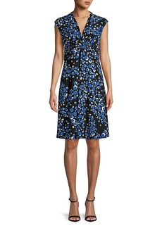 Anne Klein Zephyr Knot A-Line Dress