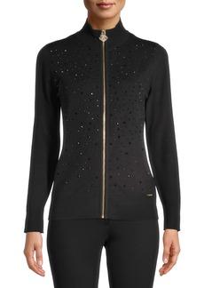 Anne Klein Zip Front Sweater