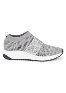 Anne Klein Bask Crystal-Embellished Slip-On Sneakers
