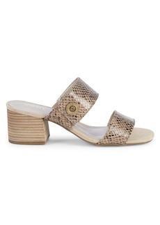 Anne Klein Breeze Snake-Print Sandals