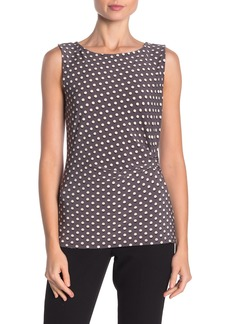Anne Klein Carlyle Dot Print Side Pleat Tank Top