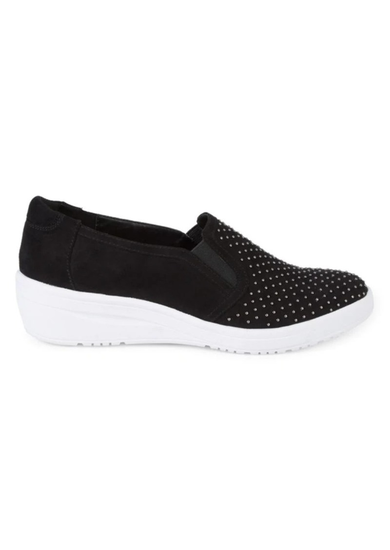 Anne Klein Casual Yates Embellished Slip-On Sneakers