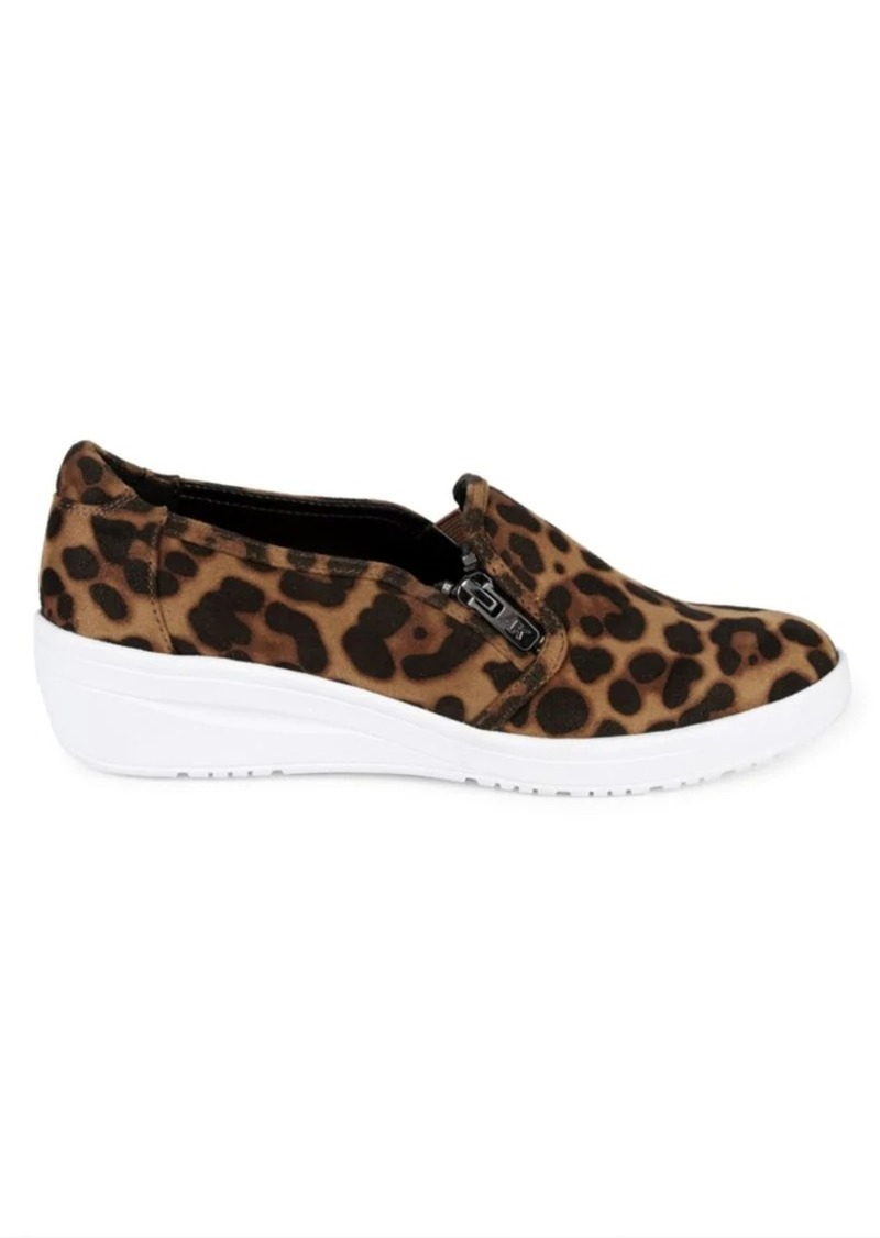 Anne Klein Casual Yuriko Leopard-Print Sneakers