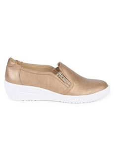 Anne Klein Casual Yuriko Metallic Low-Top Sneakers