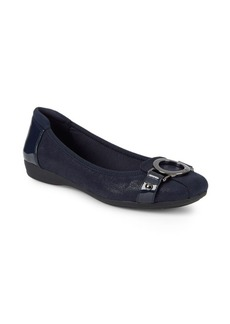 Anne Klein Classic Square-Toe Ballet Flats