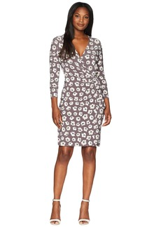 Anne Klein Classic Wrap Dress - Giverny Printed Ity