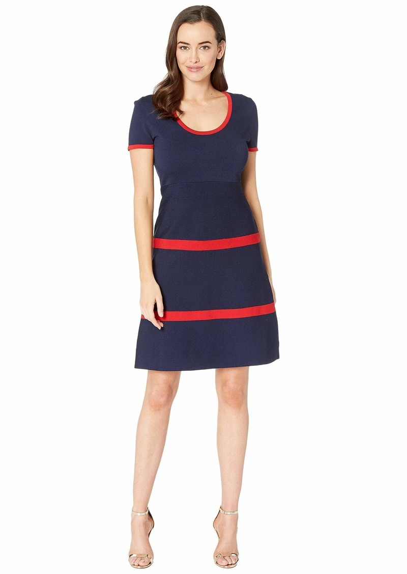 f9e7dc1098 Anne Klein Color Block Fit   Flare Sweater Dress