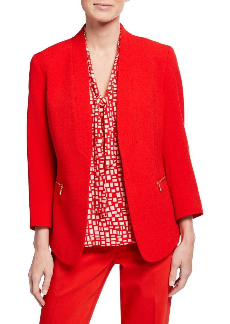 Anne Klein Crepe Cardigan Jacket