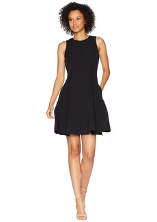 Anne Klein Crepe Seamed Fit & Flare Dress