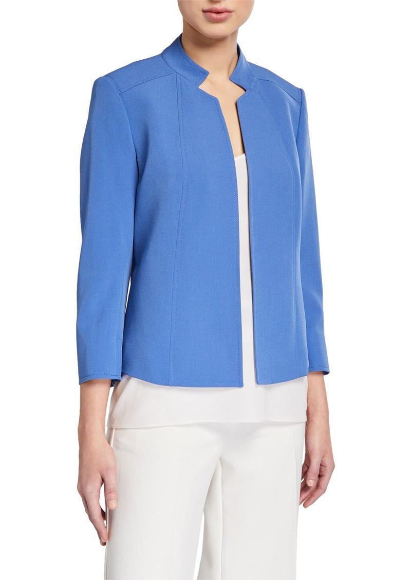 Anne Klein Crepe Stand Collar Jacket