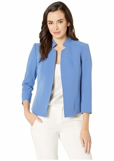 Anne Klein Cropped Stand Collar Jacket
