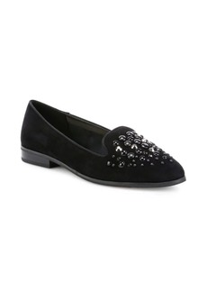 Anne Klein Della Suede Embellished Loafers