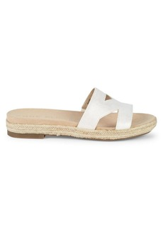 Anne Klein Doris Leather Braided Slide Sandals