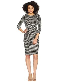 Anne Klein Dot Drape Front Knit Dress