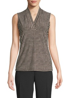 Anne Klein Dot-Print Sleeveless Top